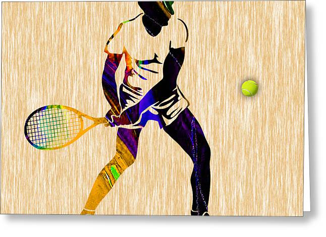 Mens Tennis Greeting Card by Marvin Blaine