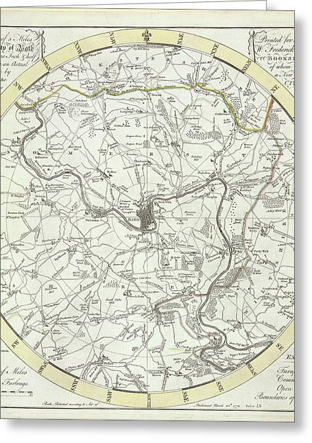 5 Miles Round The City Of Bath Greeting Card by British Library