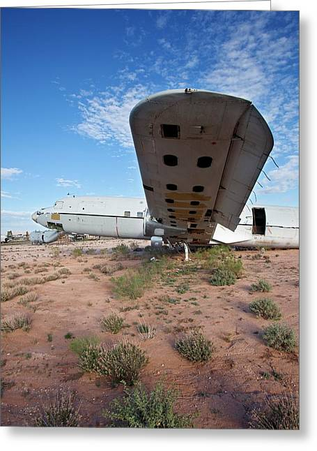 Military Aircraft In Salvage Yard Greeting Card