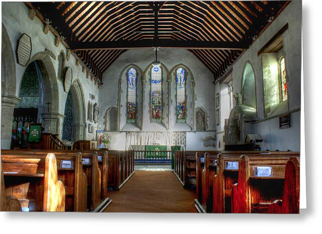 Minster Abbey Greeting Card by Dave Godden