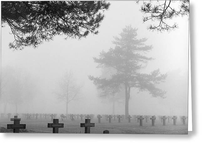 Mist At Cemetery Greeting Card by Dirk Ercken