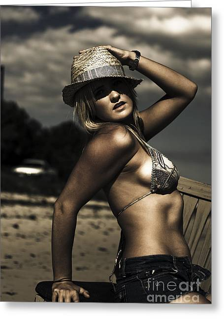 Model Greeting Card by Jorgo Photography - Wall Art Gallery