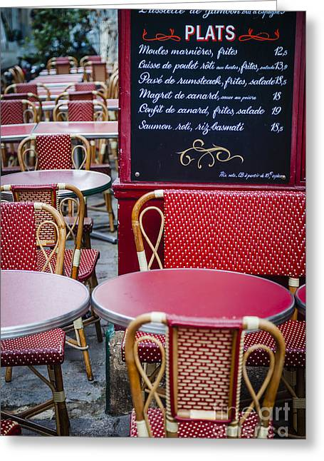 Montmartre Cafe Greeting Card by Brian Jannsen