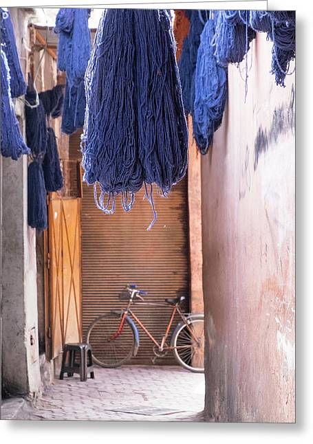 Morocco, Marrakech Greeting Card by Emily Wilson