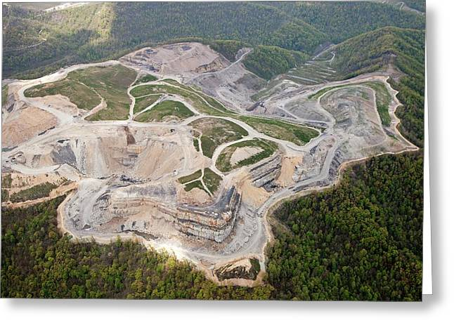 Mountaintop Removal Coal Mining Greeting Card