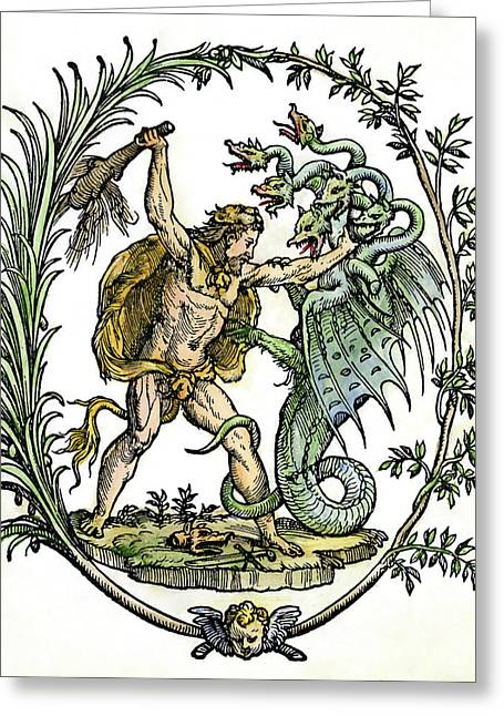 Mythology Hercules Greeting Card by Granger