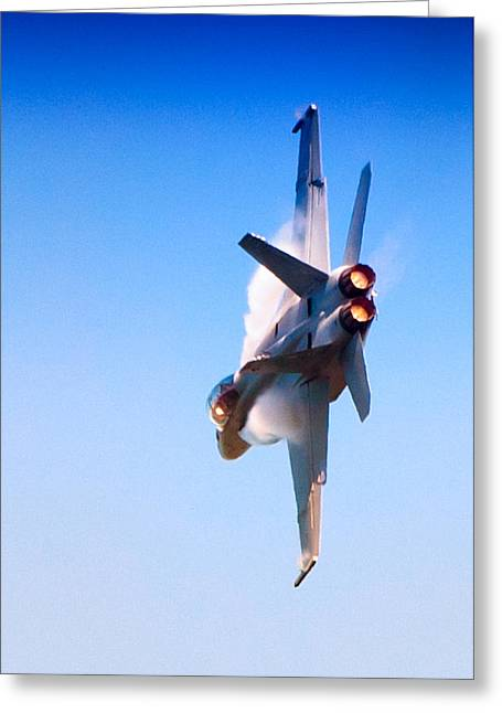 Navy F-18 Super Hornet Greeting Card by Celso Diniz