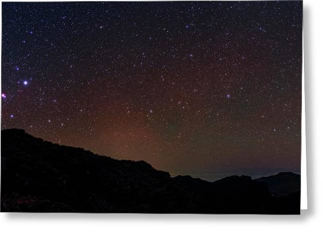 Night Sky Over La Palma Greeting Card