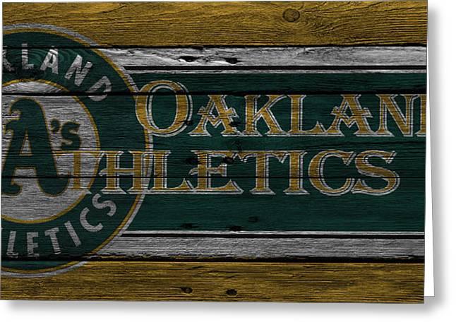 Oakland Athletics Greeting Card by Joe Hamilton