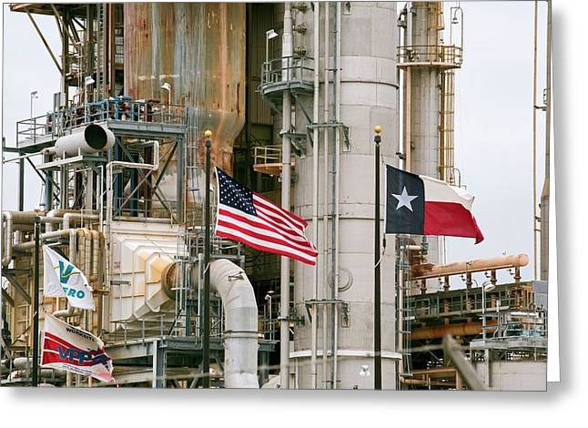 Oil Refinery Greeting Card