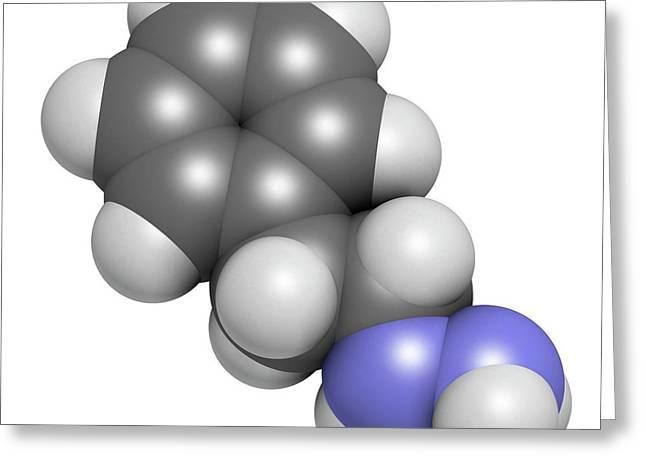 Phenelzine Antidepressant Molecule Greeting Card by Molekuul