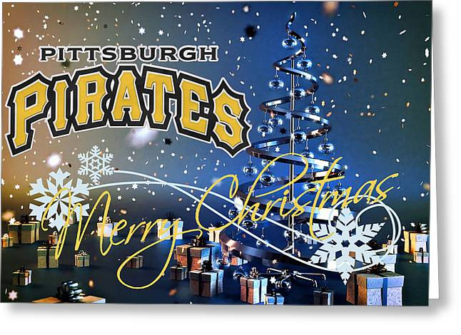 Pittsburgh Pirates Greeting Card by Joe Hamilton