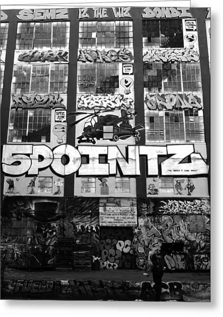 5 Pointz Greeting Card by Christina Cantero