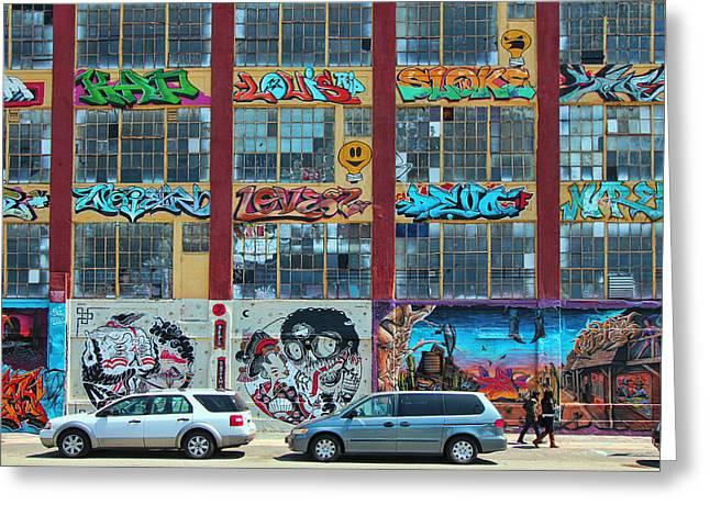 5 Pointz Graffiti Art 10 Greeting Card