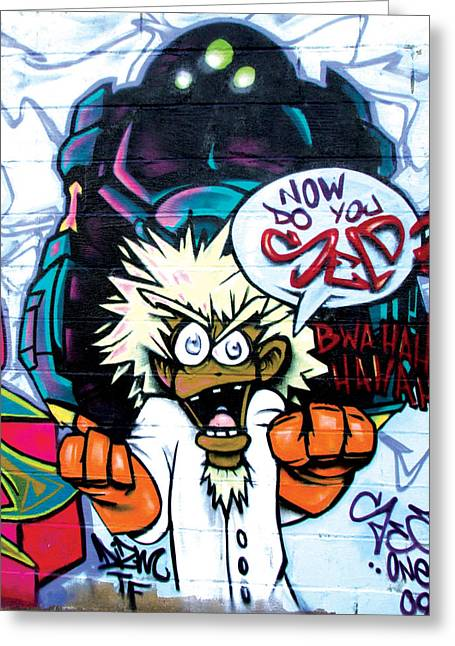 5 Pointz - Maddness Greeting Card by Christina Cantero