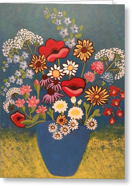 Poppies And Daisies Greeting Card by Nikki Dalton