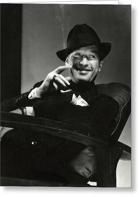 Portrait Of Maurice Chevalier Greeting Card by Edward Steichen