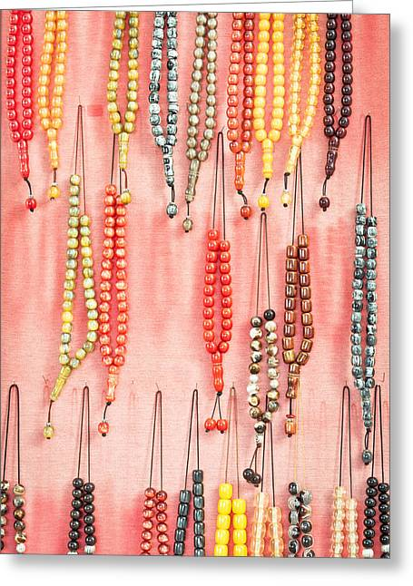 Prayer Beads Greeting Card by Tom Gowanlock