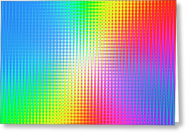 Prismatic Pattern Greeting Card by Mehau Kulyk