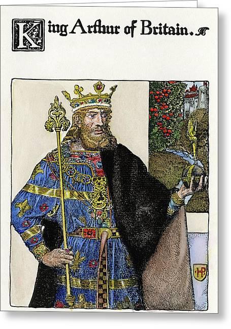 Pyle King Arthur Greeting Card by Granger