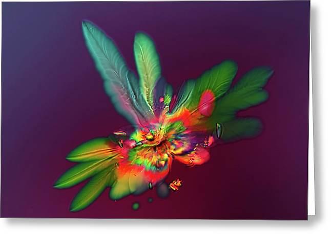 Red Wine Microcrystals Greeting Card by Marek Mis