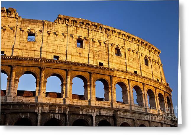 Roman Coliseum Greeting Card by Brian Jannsen