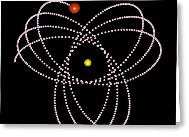 Rosetta Orbit Around Black Hole, Artwork Greeting Card
