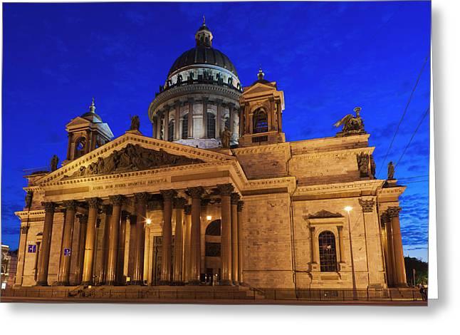 Russia, Saint Petersburg, Center, Saint Greeting Card by Walter Bibikow
