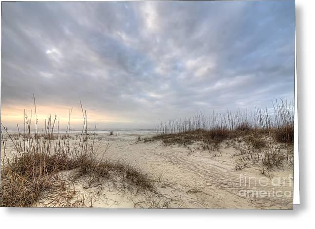 Salinas Park Beach On Cape San Blas Greeting Card by Twenty Two North Photography