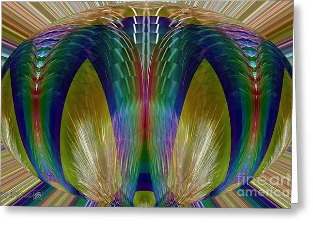 Salsify Abstract Greeting Card by J McCombie