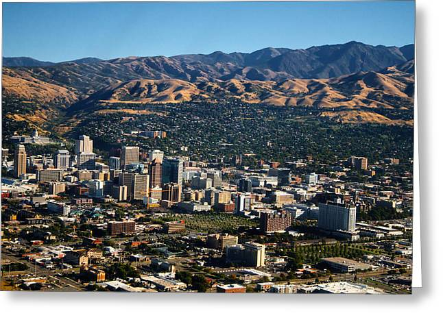 Salt Lake City Utah Greeting Card by Utah Images