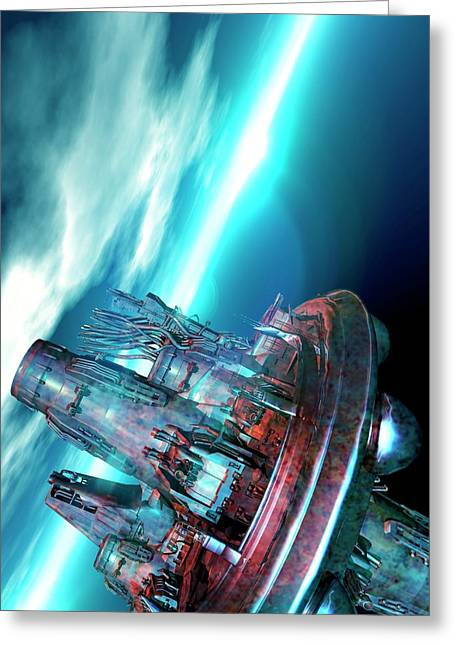 Spacecraft Greeting Card by Victor Habbick Visions