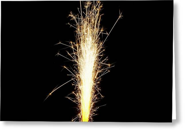 Sparkler Greeting Card by Science Photo Library