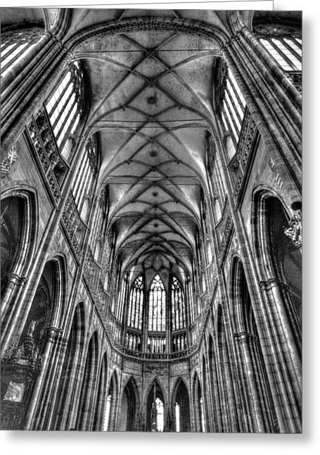 St Vitus Cathedral Prague Greeting Card