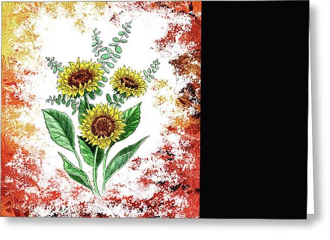 Sunflowers Greeting Card by Irina Sztukowski