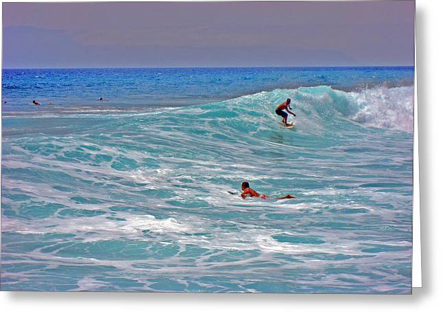 Surfing. Canary Islands. Greeting Card