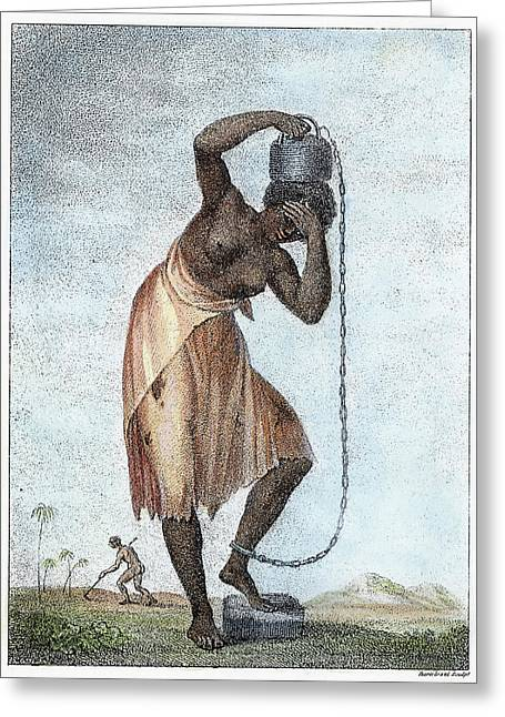 Surinam Punishment, 1796 Greeting Card by Granger