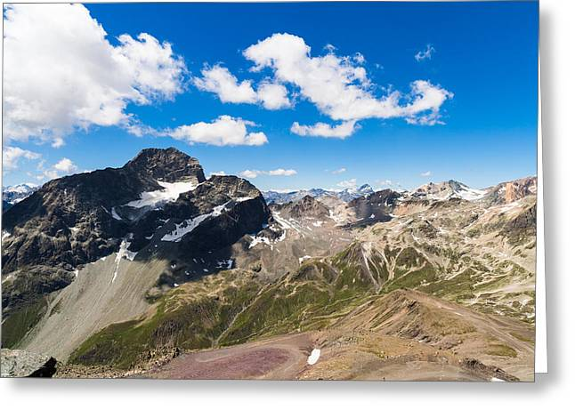 Swiss Mountains Greeting Card by Raul Rodriguez