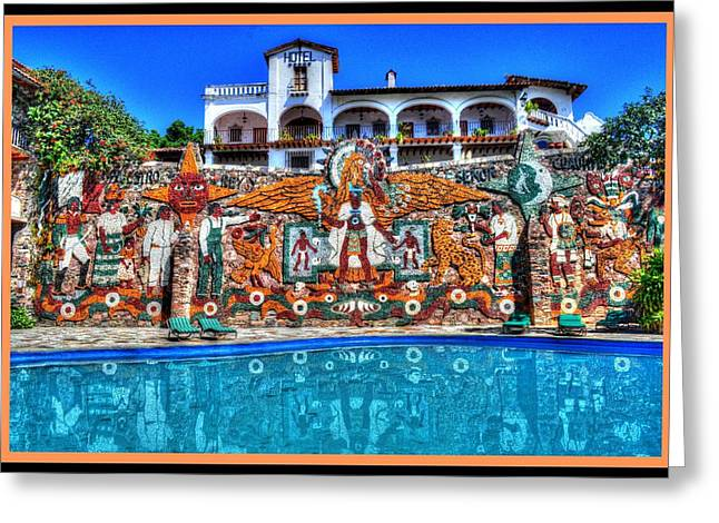 Taxco Mexico Greeting Card by Paul James Bannerman