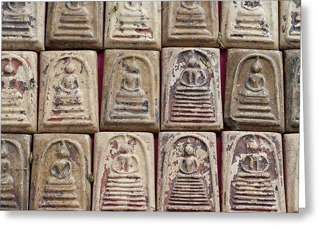 Thailand, Bangkok Amulet Market Greeting Card by Cindy Miller Hopkins