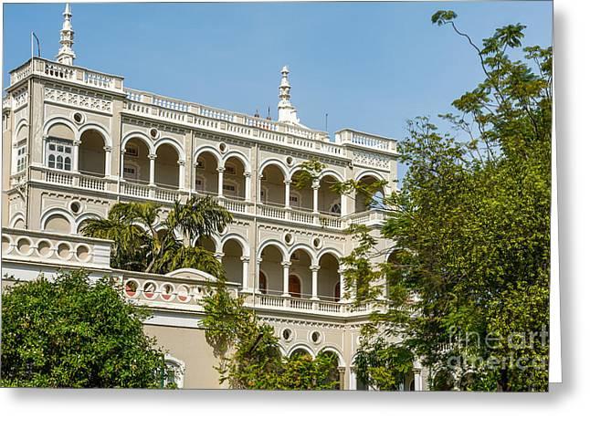 The Aga Khan Palace Greeting Card by Kiran Joshi