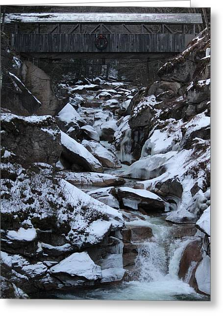 The Flume Gorge  Greeting Card