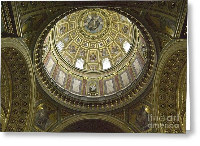 The Interior Of The Church Greeting Card by Odon Czintos