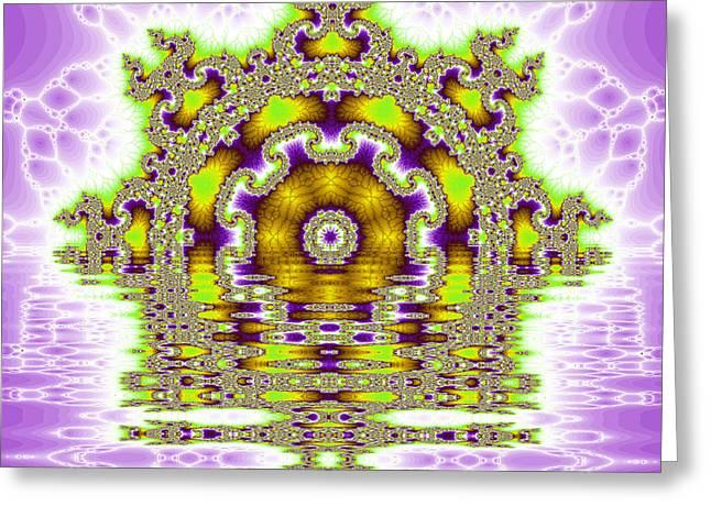 The Kaleidoscope Reflections Greeting Card by Odon Czintos