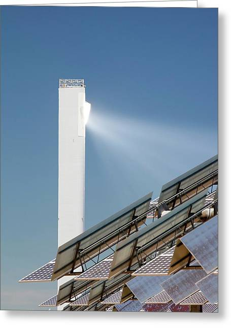 The Ps20 Solar Thermal Tower Greeting Card by Ashley Cooper