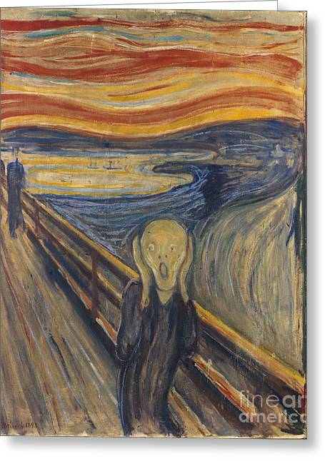 The Scream Greeting Card by Mountain Dreams
