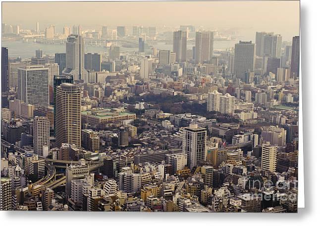 Tokyo, Japan Greeting Card by John Shaw