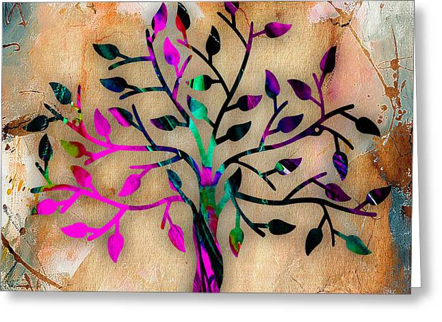 Tree Of Life Painting Greeting Card by Marvin Blaine