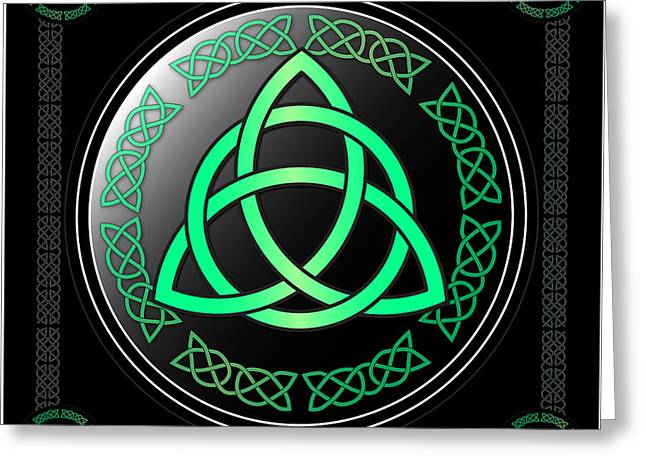 Triquetra Greeting Card by Ireland Calling