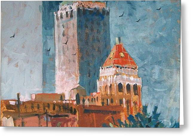 Tulsa  Greeting Card by Micheal Jones